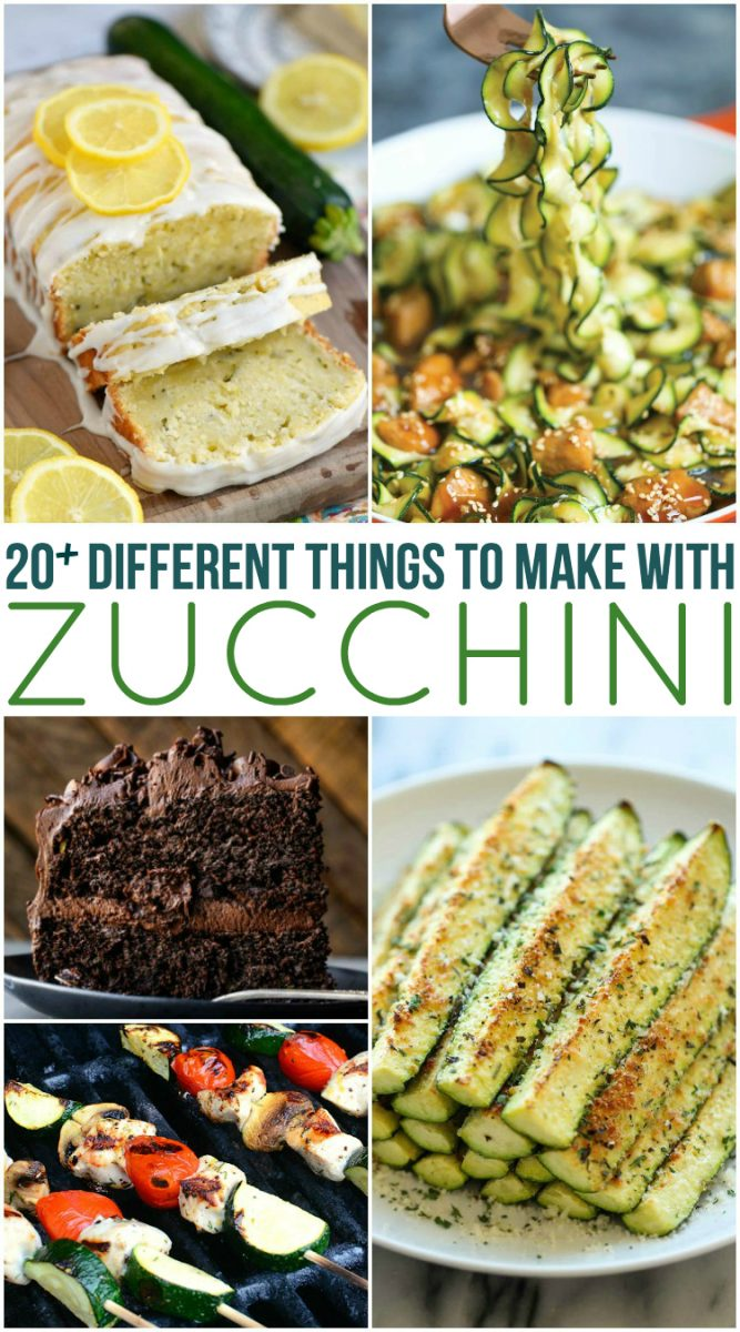 20 Different Zucchini Recipes - Family Fresh Meals