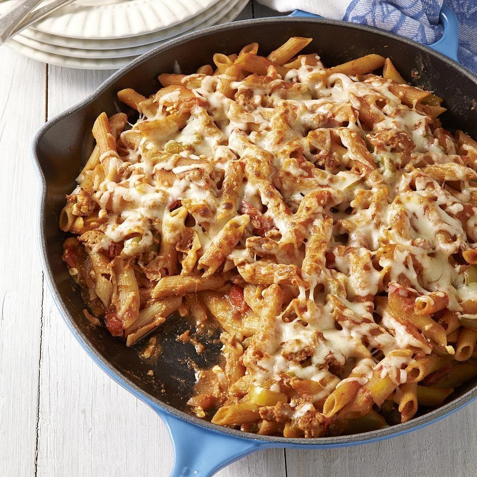 Sausage & Peppers Baked Ziti Recipe - EatingWell