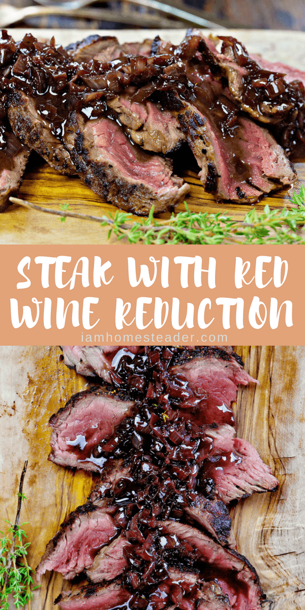 Steak with red wine reduction | Recipe | Easy Homemade Recipes ...
