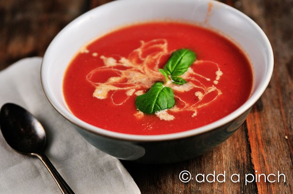 Tomato Soup Recipe - Cooking   Add a Pinch   Robyn Stone
