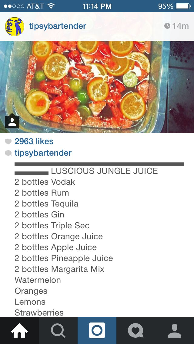 Luscious jungle juice … | 25th birthday in 2018…