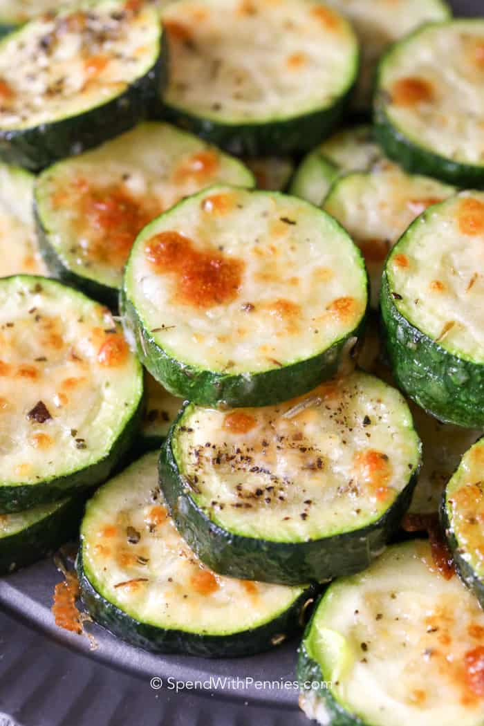 Easy Baked Zucchini - Spend With Pennies