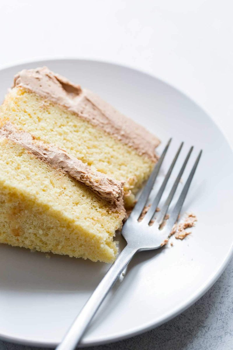 Yellow Cake Recipe {From Scratch!} - Savory Simple