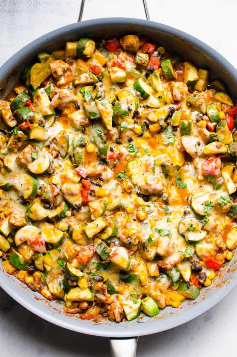 Tex Mex Chicken and Zucchini - iFOODreal - Healthy Family Recipes