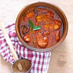 Spicy South Indian fish curry. Try this with salmon, it