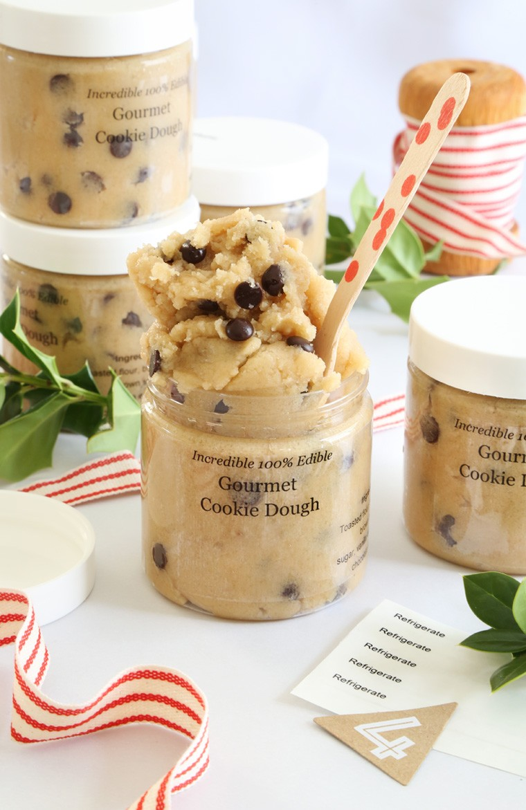 Gift This! Gourmet Toasted Cookie Dough in a Jar | Sprinkle Bakes