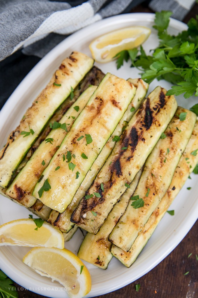 Grilled Zucchini Recipe with Lemon and Olive Oil   yellowblissroad