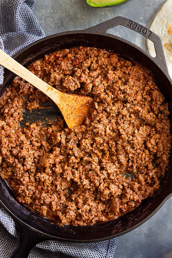 Homemade Ground Beef Taco Meat | Countryside Cravings