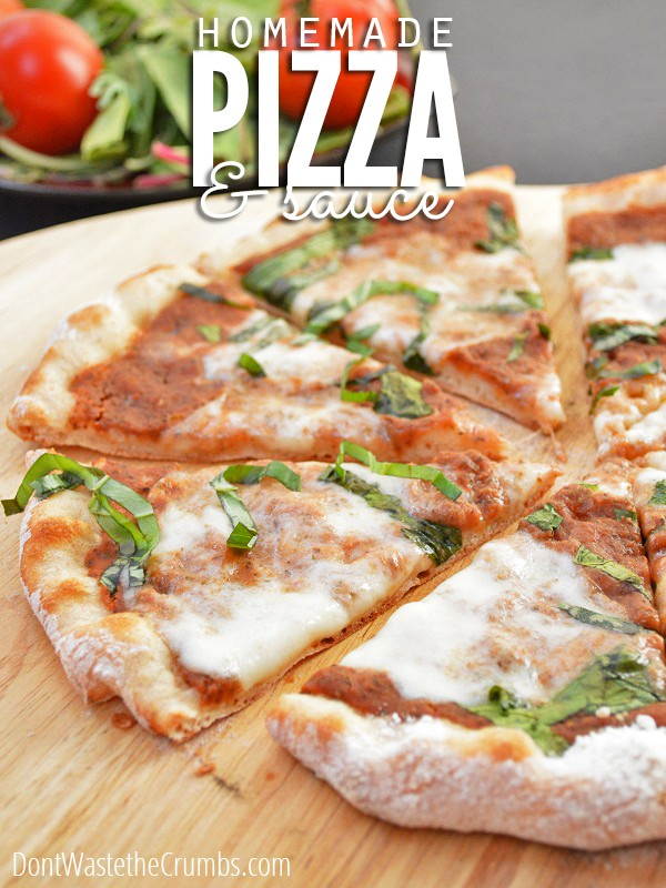 The Best Pizza Dough Recipe and the Easiest Pizza Sauce Ever