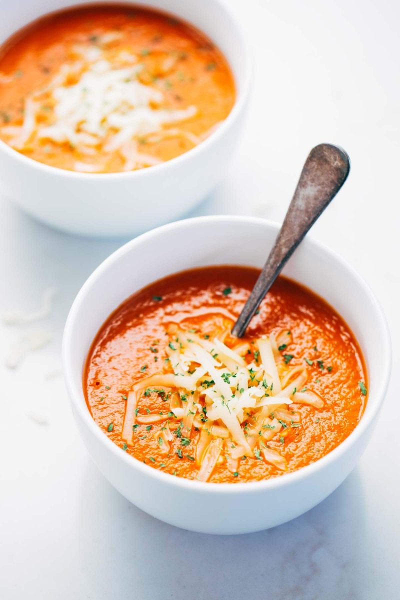 Simple Homemade Tomato Soup Recipe - Pinch of Yum