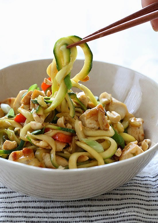 Kung Pao Chicken Zoodles For Two   Skinnytaste