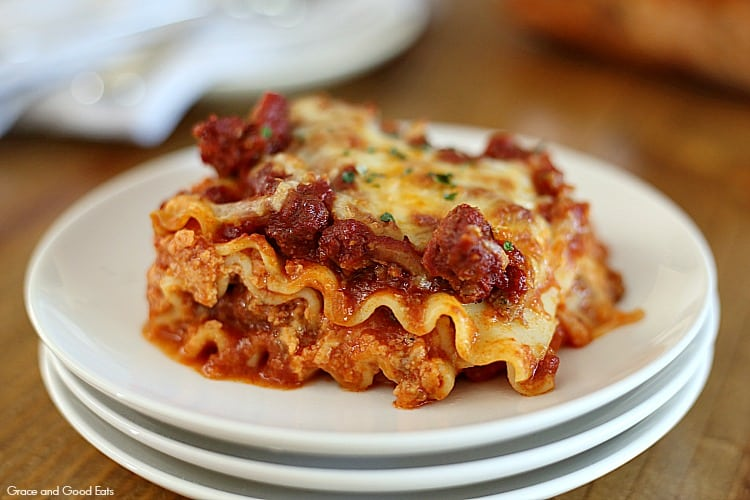 Creamy Lasagna Without Ricotta Cheese - Grace and Good Eats