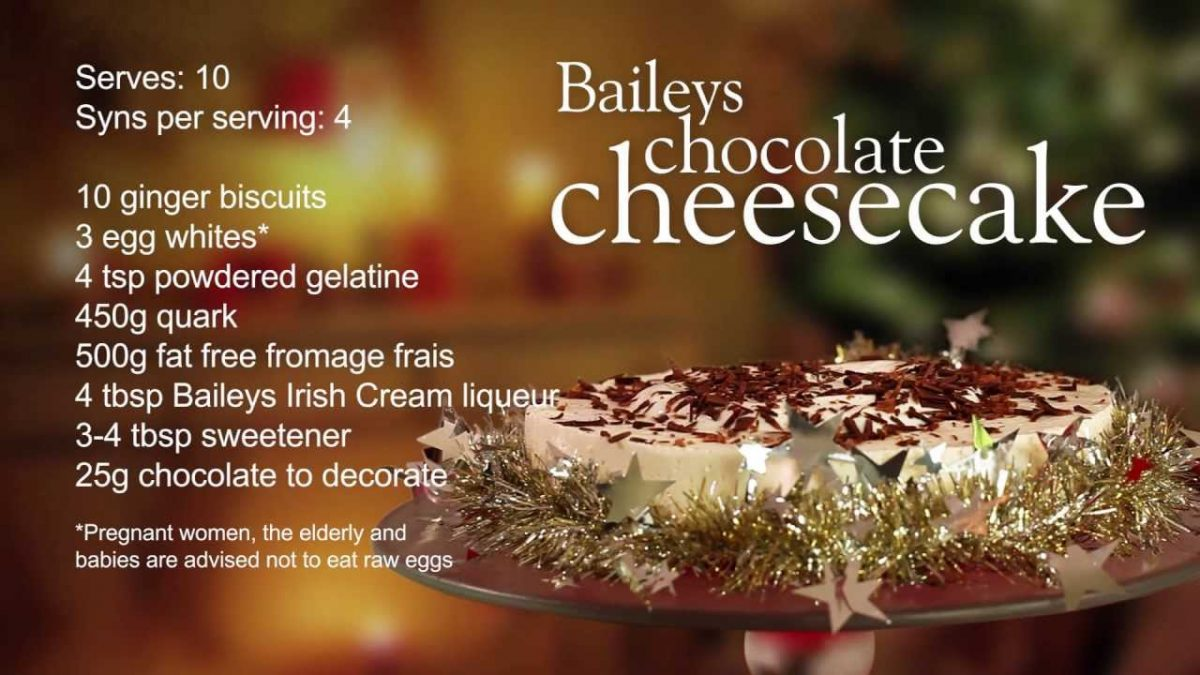 Slimming World Baileys chocolate cheesecake recipe - 4 Syns - YouTube