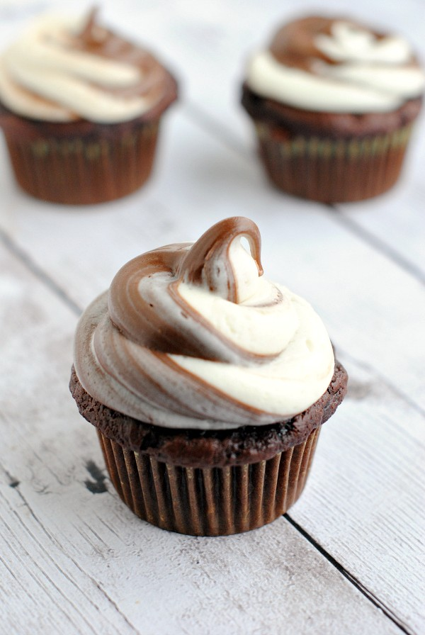 Easy and Amazing Nutella Cupcakes - Crazy Little Projects