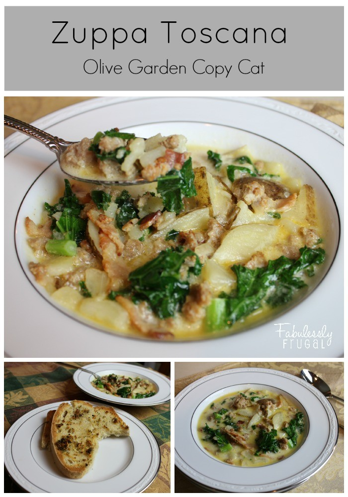 Olive Garden inspired Zuppa Toscana Soup
