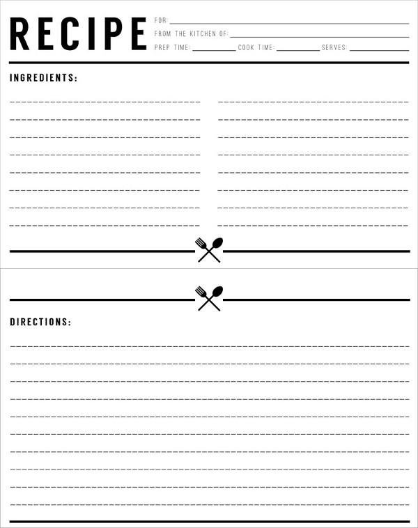 recipe cards template word - Haska.metashort.co