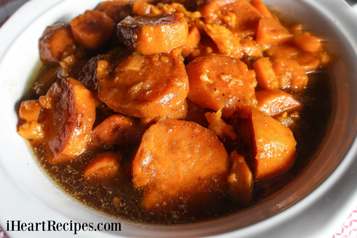 Baked Candied Yams - Soul Food Style! | I Heart Recipes