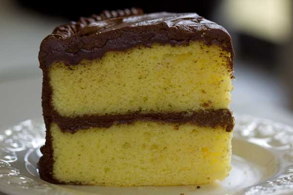 Tender Yellow Cake With Fudge Frosting Gluten Free The Heritage ...