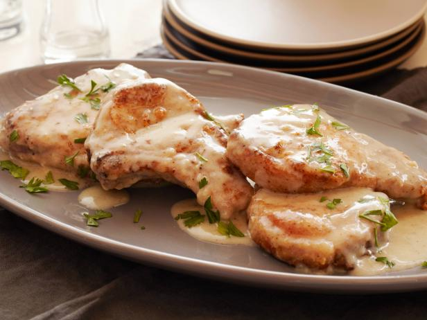Smothered Pork Chops Recipe   Tyler Florence   Food Network