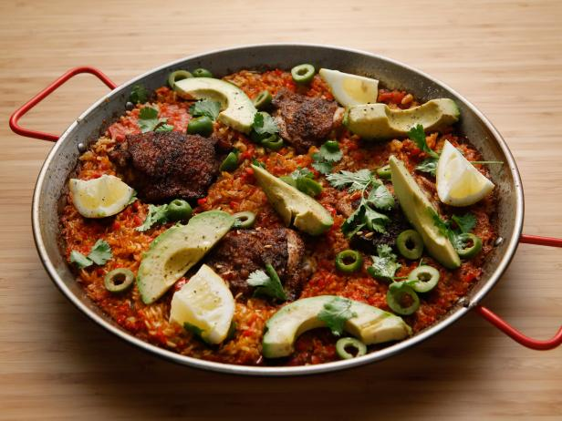 Chicken Paella Recipe | Tyler Florence | Food Network