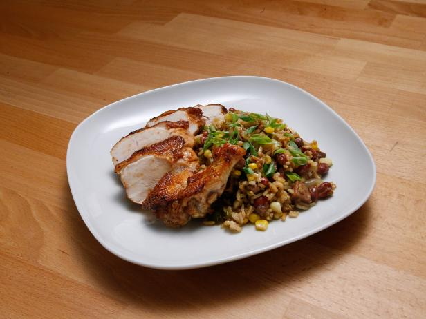 Chicken Breast with Dirty Rice Recipe | Anne Burrell | Food Network
