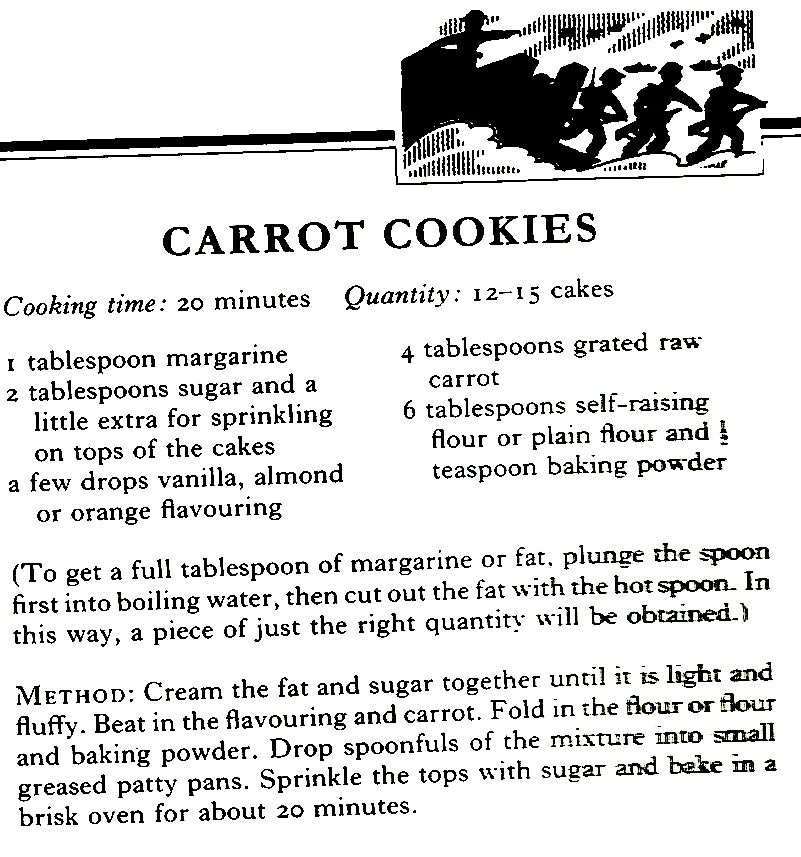 WWII Carrot Cookies (these are tasty, however, the recipe needs to ...