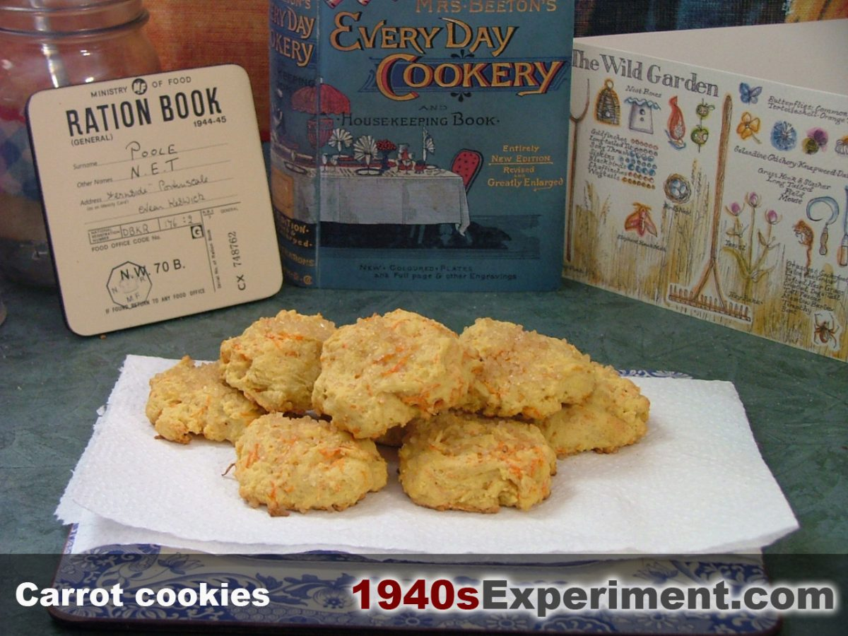 Carrot Cookies – The 1940