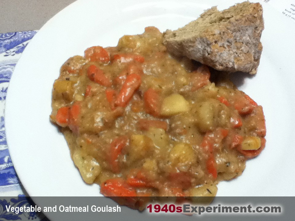 Vegetable and Oatmeal Goulash – The 1940