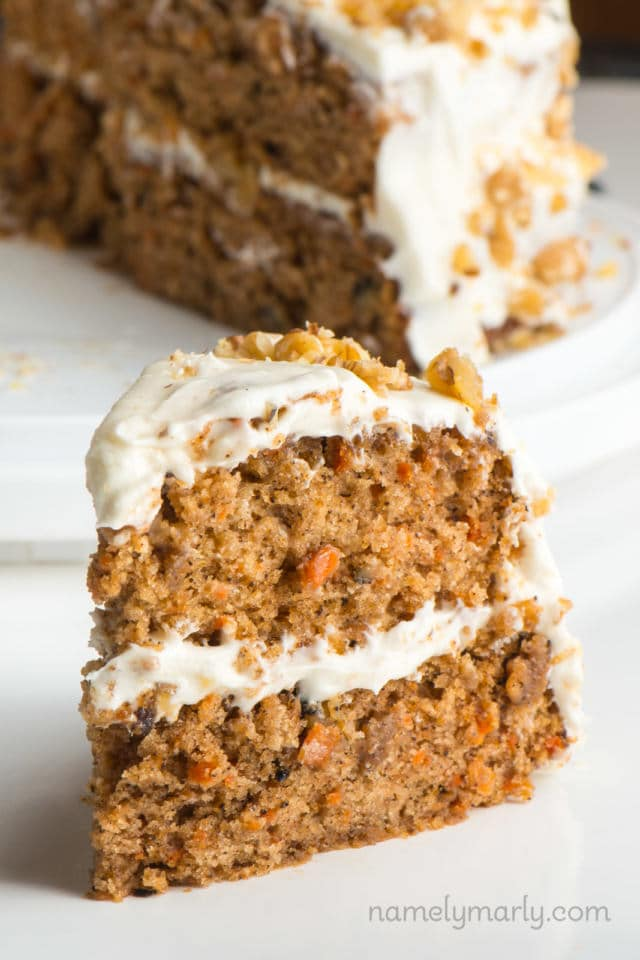 Best Vegan Carrot Cake Recipe with Vegan Frosting - Namely Marly