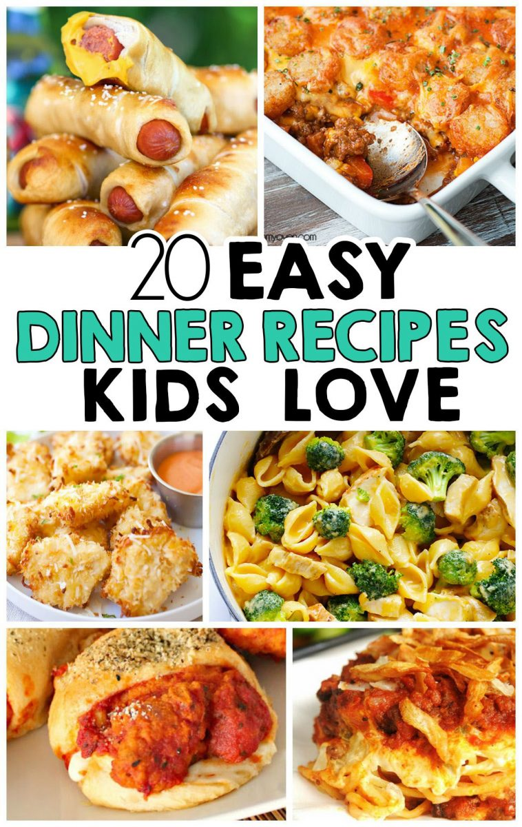 20 Easy Dinner Recipes That Kids Love | yum yum | Dinner recipes ...
