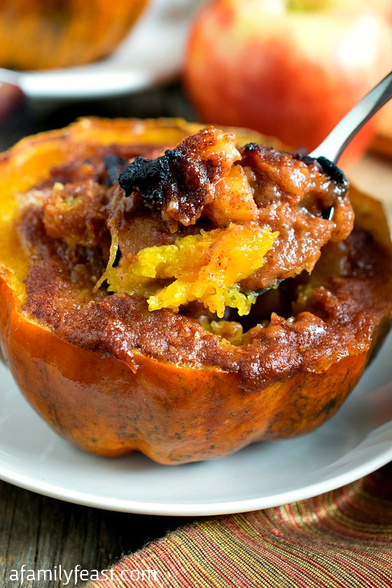Apple-Stuffed Acorn Squash - A Family Feast®