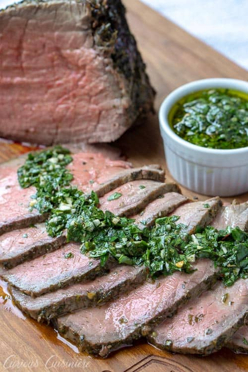 Top Round Roast Beef with Chimichurri • Curious Cuisiniere