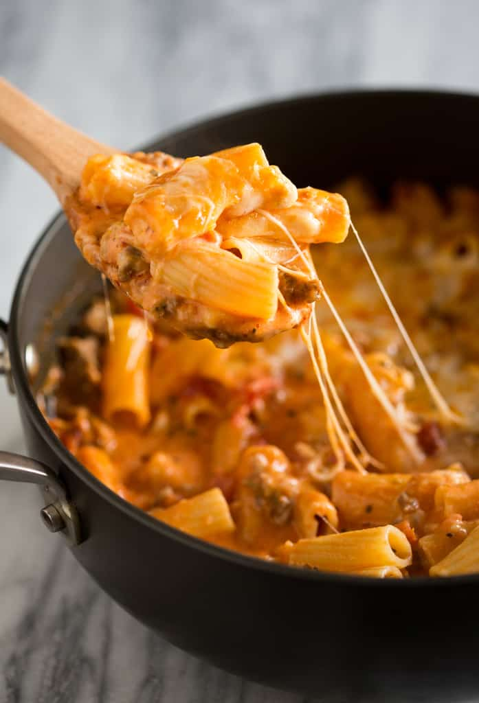 One Pan Baked Ziti Recipe- Tastes Better From Scratch