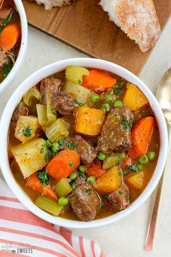 Beef Stew Recipe - Celebrating Sweets