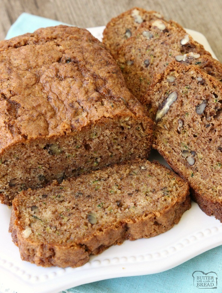 BEST EVER ZUCCHINI BREAD RECIPE {VIDEO!} - Butter with a Side of Bread