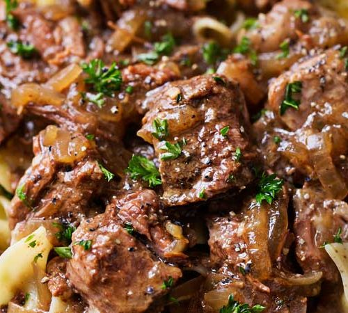 Drunken Slow Cooker Beef Stew (Beef Carbonnade) - The Chunky Chef