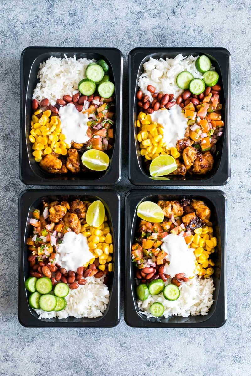 Easy Chicken Burrito Meal Prep Bowls (Gluten Free) - My Food Story