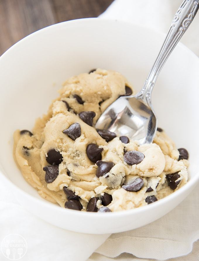 Eggless Cookie Dough for One - Like Mother Like Daughter