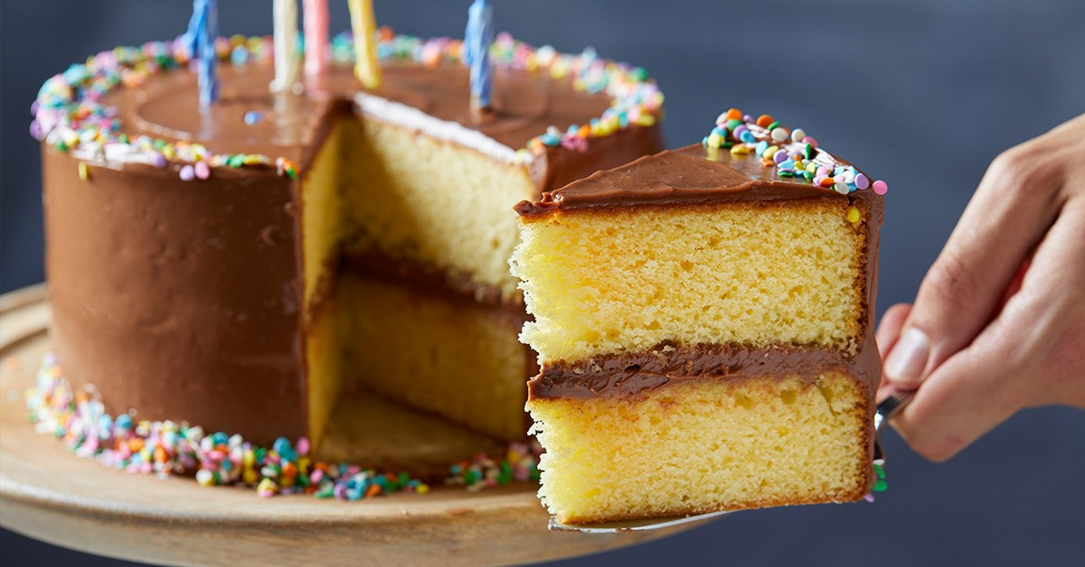 Classic Yellow Cake with Chocolate Frosting Recipe | Tasting Table