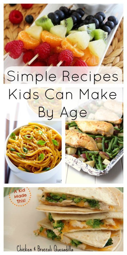These recipes are perfect to start your kids out in the kitchen ...