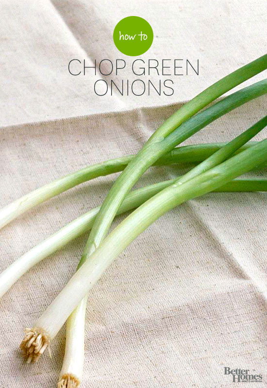 How to Chop Green Onions into Perfectly Even Slices | Better Homes ...