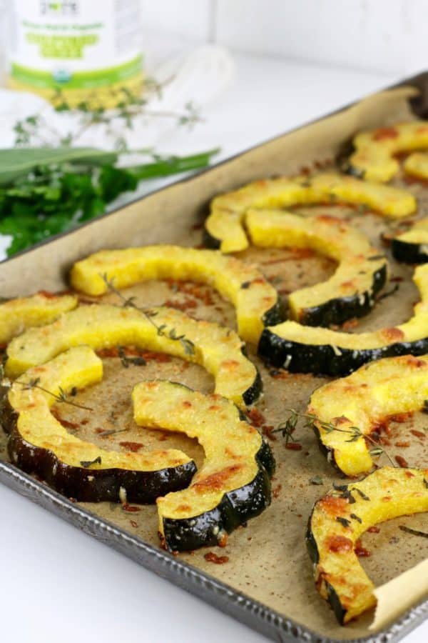 Herb-Roasted Parmesan Acorn Squash - The Real Food Dietitians