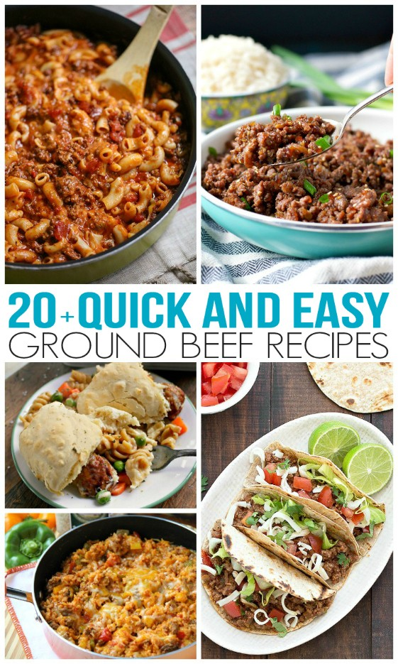 Quick and Easy Ground Beef Recipes - Family Fresh Meals