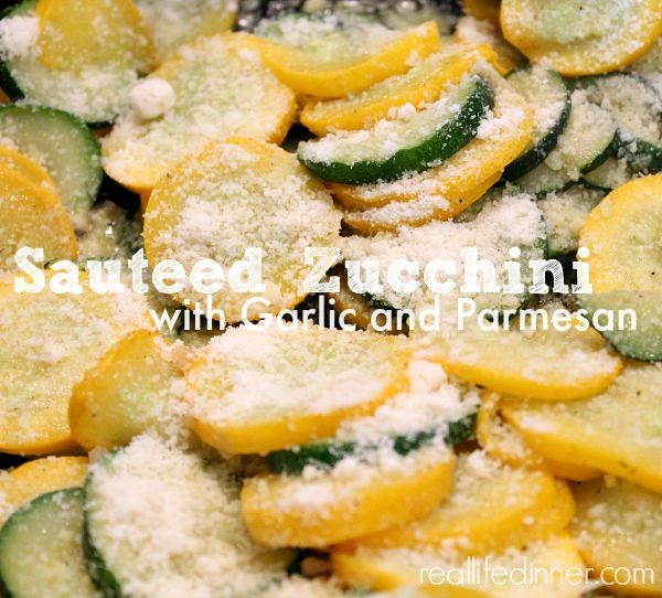 Sauteed Zucchini and Yellow Squash with Garlic and Parmesan ...