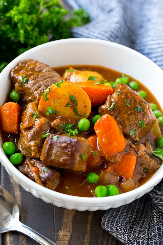 Slow Cooker Beef Stew - Dinner at the Zoo