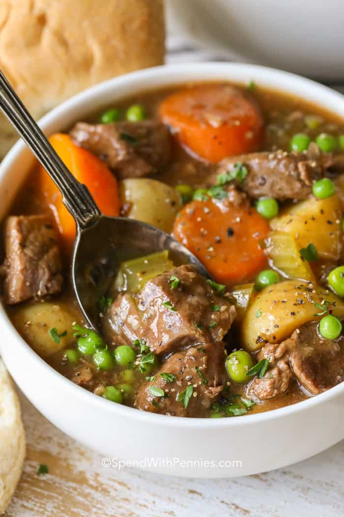 Beef Stew Recipe {Homemade & Flavorful} - Spend With Pennies