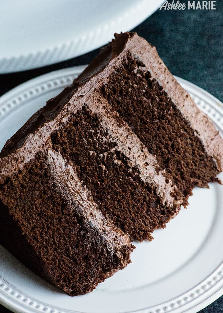 Perfect Chocolate Cake Recipe with Ganche buttercream- rich, dense ...