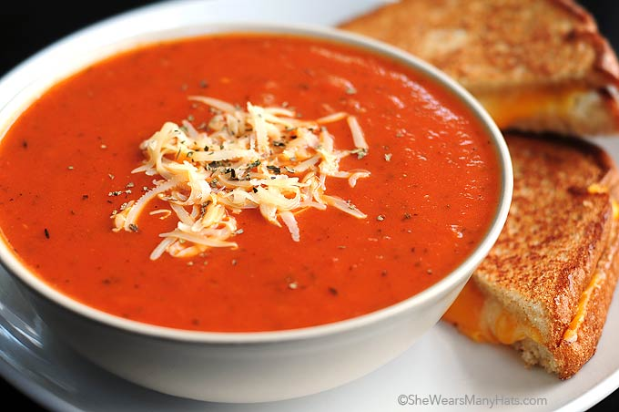 Quick and Easy Tomato Soup Recipe | She Wears Many Hats