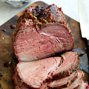 Rotisserie Top Round Roast With Garlic and Herbs - i FOOD Blogger