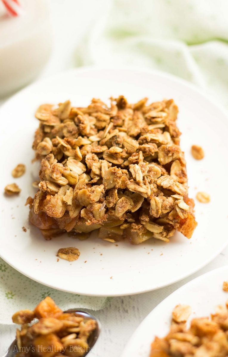 The Ultimate Healthy Apple Crumble {Recipe Video!}   Amy